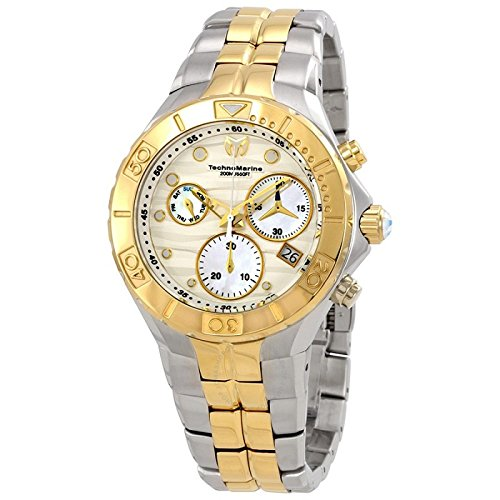 Technomarine Women's 'Sea' Quartz Stainless Steel Casual Watch, Color Two Tone (Model: TM-715020) (Stainless New Steel Chronograph Technomarine)