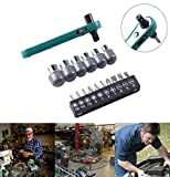 TAOtTAO Mini Rapid Ratchet Wrench 1/4 Screwdriver Bit Rod Socket Spanner Hand DIY Tool