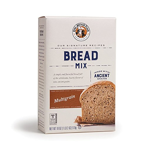 King Arthur Flour Multigrain Bread Mix - 18.25 OZ (517g), Bread Mix for Bread Machines or Oven Baked Bread