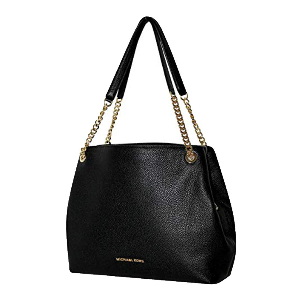 Amazon.com  Michael Kors Jet Set Black Pebble Leather Chain Shoulder Bag  Hobo Tote  Shoes 55e42965bdad1