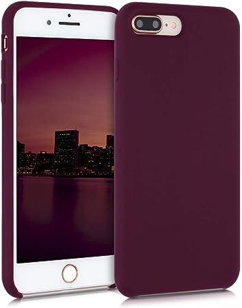 kwmobile Cover per Apple iPhone 7 Plus / 8 Plus - Cover Custodia in Silicone TPU - Back Case Protezione Cellulare Viola Bordeaux