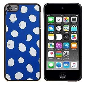 - spots blue white dress abstract - - Modelo de la piel protectora de la cubierta del caso FOR Apple iPod Touch 6 6th Generation RetroCandy