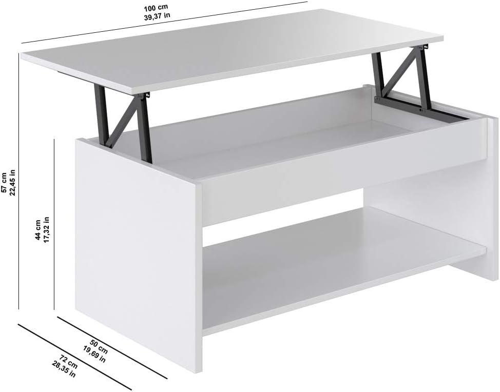 Marca Amazon - Movian Aggol Modern - Mesa de centro elevable con ...