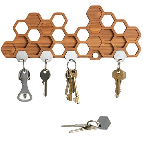 BU Products - Honeycomb Magnetic Key Holder For Wall, A Uniq