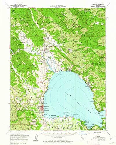 Outdoor Chair Alder (YellowMaps Lakeport CA topo map, 1:62500 Scale, 15 X 15 Minute, Historical, 1958, Updated 1962, 20.8 x 16.6 in - Paper)