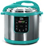 Elite Platinum EPC-1013T Maxi-Matic Electric Pressure Cooker, 10 quart, Turquoise