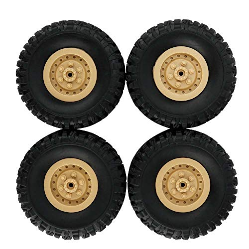 Price comparison product image JPJ(TM)4pcs Hot Fashion Track Wheels Spare Parts For 1 / 16 WPL B14 C24 FY001 Military Truck RC Car (Yellow)