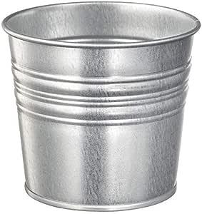 وعاء إناء دلو نبات فولاذ مغلفن من سوكر، ارتفاع 10سم