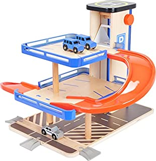 Le Toy Van Parkhaus Le Grand Garage Set Holzparkhaus Holzspielzeug Holz