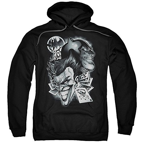 Batman DC Comics Joker Archenemies Crazy Grins Adult Pull-Over Hoodie -