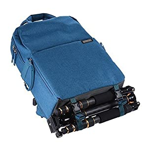Professional Fashion Camera Bag DSLR Laptop Backpack Waterproof Travel Large Size Multifunctional Backbag Water Resistant for Sony Canon Nikon Olympus Lens Tripod and Accessories Men Women(Blue)