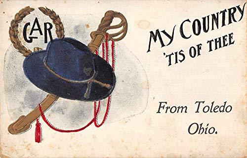 Toldeo Ohio GAR Military Patriotic Greetings Vintage Postcard JI657386