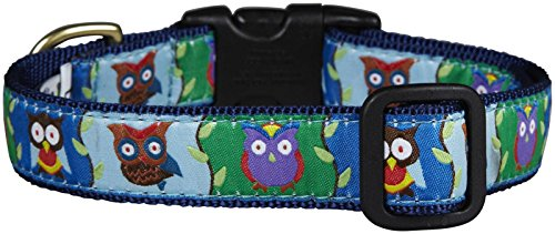 Up Country Owl Dog Collar - Medium Wide