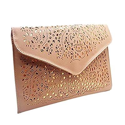 Orfila Women's Flower Hollow Out Clutch Envelope Chain Shoulder Bag Handbag