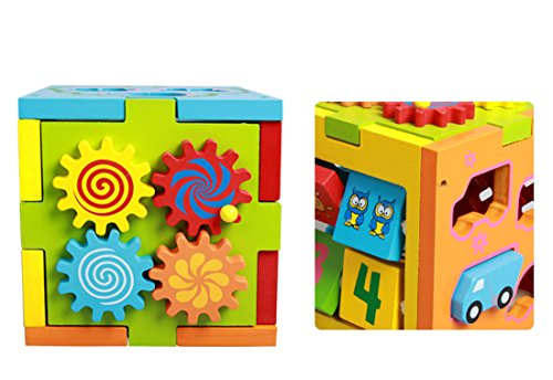 Color Digital Intelligence Box Shape Paired Car Early Childhood Educational Baby Toys Removable Toy Building Blocks