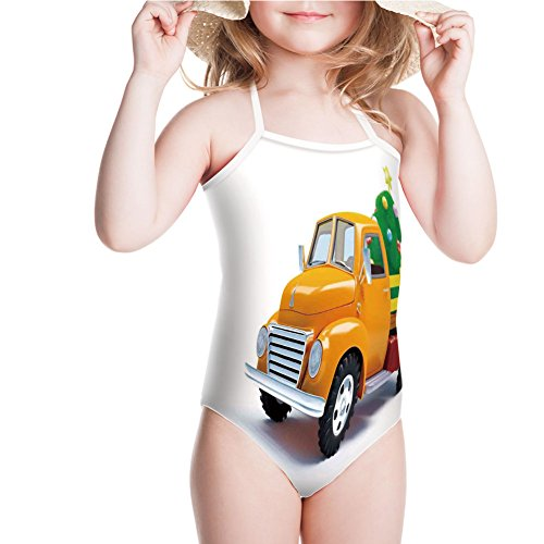 Tree Ultimate Decorated (iPrint Swimsuit Decorated Tree with Star Topper Old Farm Motor for 5-6ages)