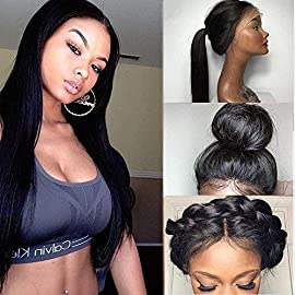 H&N Hair Straight Lace Front Human Hair Wigs For Black Women Pre Plucked Brazilian Virgin Glueless Lace Human Hair Wigs…
