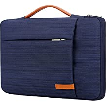Lacdo 360° Protective Laptop Sleeve Case Briefcase for 13-13.3 Inch MacBook Air | MacBook Pro Retina 2012- 2015 | Surface Book | 12.9 Inch iPad Pro, Dell HP ASUS Acer Chromebook Tablet Bag, Light Blue