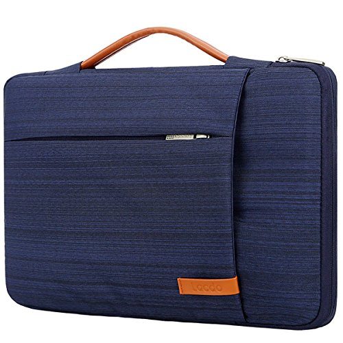 Lacdo 360° Protective Laptop Sleeve Case Briefcase for 15.6 Inch Acer Aspire, Predator, Toshiba, Dell Inspiron, ASUS P-Series, HP Pavilion, Lenovo Chromebook Notebook Bag, Water Repellent, Light Blue