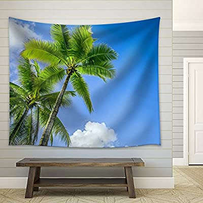 Delightful Composition, With a Professional Touch, Palm Trees Against The Clear Blue Sky