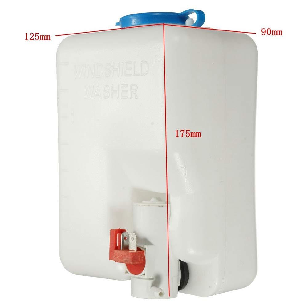 Leslaur Kit Serbatoio Pompa lavavetri Universale Pompa 12V 1.8L Serbatoio Sistema tergicristallo
