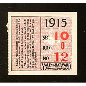 1915 Yale Bulldogs v Harvard Crimson Football Ticket 11/20/15 Harvard Stadium