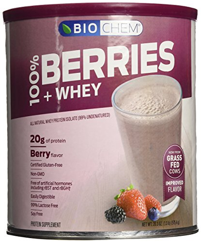 Biochem 100% Berries and Whey Powder, Berry, 1.3-Pound (Whey Berry)
