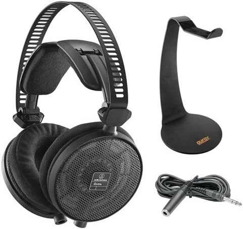 Audio-Technica ATH-R70x Pro Reference Headphones with Headphone Stand /& Extension Cable 10