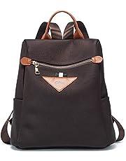 CLUCI Damen Rucksack Nylon Diebstahlsicherer Wasserdichte Rucksäcke Leichter Mode Reiserucksack Schultertaschen für Frauen