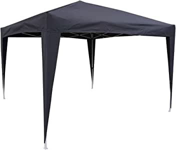 Hosa - Carpa Plegable Acero 3 x 3 m Negra - Cenador Gazebo para Patio, Playa y Jardín Ideal para Camping, Feria, Eventos o Mercadillo.: Amazon.es: Deportes y aire libre