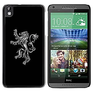 MOBMART Carcasa Funda Case Cover Armor Shell PARA HTC DESIRE 816 - Magnificent Steeled Lion