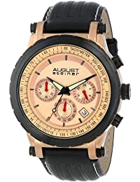 August Steiner Men's AS8085RG Analog Display Japanese Quartz Black Watch