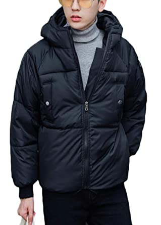 Hokny TD Mens Thicken Hooded Zip Outwear Padded Winter Down Jacket Coat