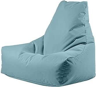 Bean Bag Soft Flexible Velvet Chair Small - Baby Blue