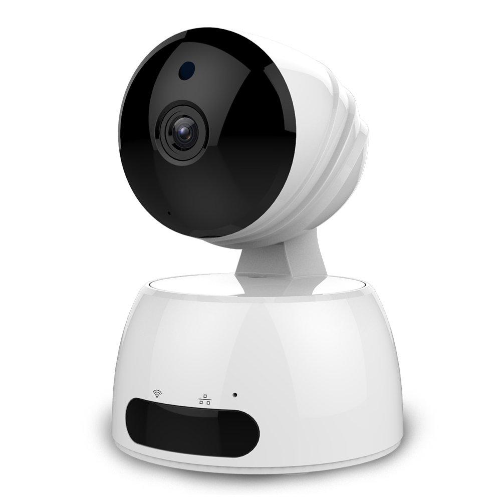 ワイヤレスWiFi IPカメラ、HD 720pホームセキュリティ監視カメラシステム、パン&ティルト&ズーム、2ウェイオーディオとナイトビジョンベビーモニター B074P5XZ29