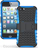 iPhone SE / 5S / 5 Case, Cocomii® [HEAVY DUTY] Grenade Case *NEW* [ULTRA TITAN ARMOR] Premium Shockproof Kickstand Bumper [MILITARY DEFENDER] Full-body Rugged Dual Layer Cover for Apple iPhone 5 ★★★★★ (Blue)