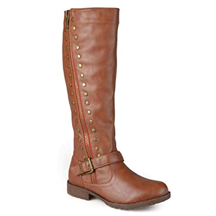GONGFF European and American Fashion Brown Long Tube Womens Boots Black Large Size Over The Knee Boots,#4,40