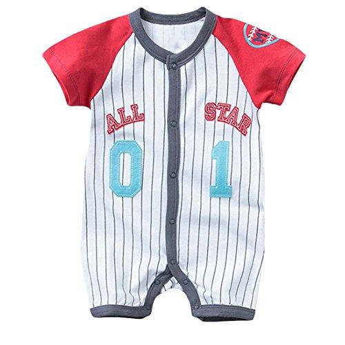 6M Number 9504 9500 Sleeve Romper Girls' Stripe ZHUOTOP Baby Short H00wP