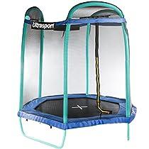 Ultrasport Trampolino da Giardino Jumper Esagonale, Inclusa Rete Di Sicurezza