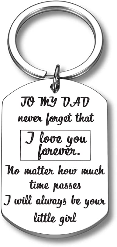Father /& Daughter Personalised Keychain Birthday Christmas Gift Idea