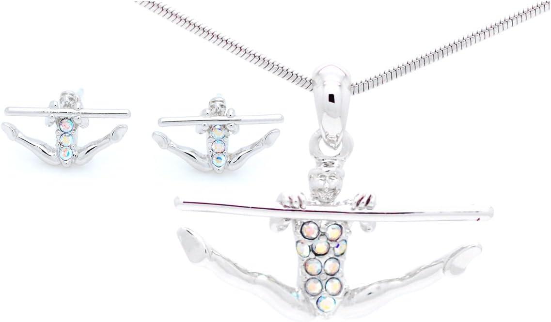 Gymnastics BAR Earrings Post Violet Victoria /& Fan Star Gymnast Earrings