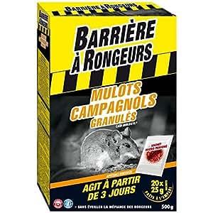 BARRIERE A RONGEURS Mulots Campagnols - Appât granulé - 500g