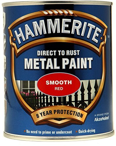 Hammerite Metal Paint Smooth 750ml Red by Hammerite