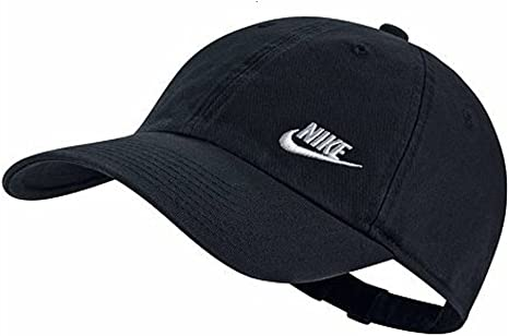 Nike Twill H86 Gorra de Tenis, Mujer, Negro (Negro/Blanco), Talla ...