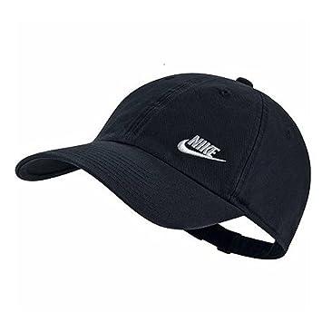 Nike Twill H86 Gorra de Tenis, Mujer, (Negro/Blanco), Talla Única: Amazon.es: Deportes y aire libre