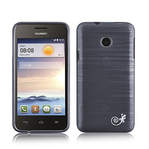 Ascend Y330 Case - Silicone Gel Back Cover for Huawei Ascend Y330, Black (Y330 Back Case Huawei)