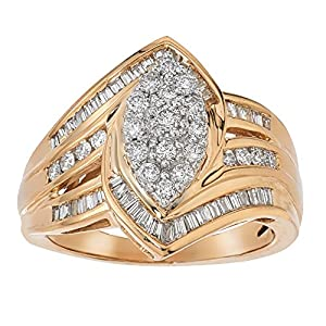 1ct Diamond Marquise Engagement Ring in 14K Gold
