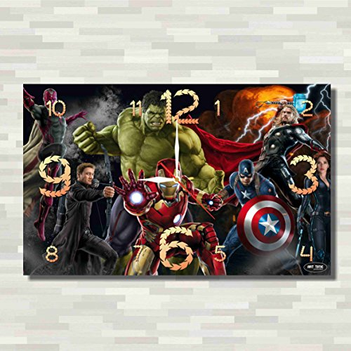 Cogsworth Costume Kids (The Avengers 17'' x 11'' Handmade unique Wall Clock - Get unique décor for home or office – Best gift ideas for kids, friends, parents)