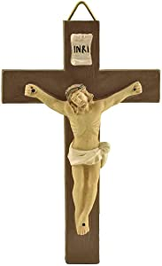 Resin Small Crucifix Wall Cross For Child's Room Decor Catholic Wall Crucifix For Children-3.9