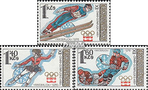 Czechoslovakia 2305-2307 (Complete.Issue.) 1976 Winter Games (Stamps for Collectors) Winter Sports